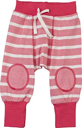 People Wear Organic Bio Baby-Hose rot/weiß Größe 62 / 68