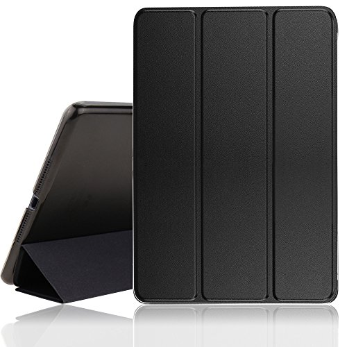 New iPad Case, 2017/2018 iPad 9.7 inch Cover Case with Auto Sleep/Wake Function,Ultra Slim Lightweight Smart iPad Case For Newest iPad Model A1822/A1823/A1893/A1954 (Black)