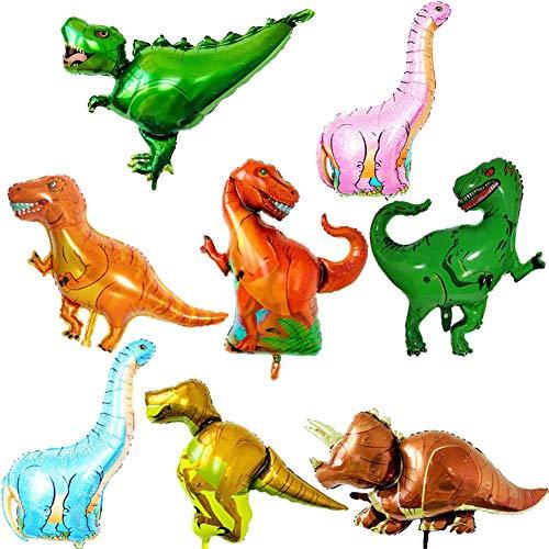 ED-Lumos Set von 8 Pack Riesen Dinosaurier Wiederverwendbare Heliumballons für Geburtstagsfeier Dekoration Kinder Geschenk