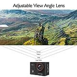 AKASO Sports Kamera/Action Cam 4K WiFi Helmkamera/Unterwasserkamera mit Touchscreen EIS Einstellbarer Weitwinkel mit Fernbedienung 16MP mit 25 Zubehöre