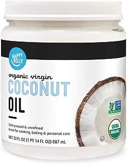 Amazon Brand - Happy Belly Organic Virgin Coconut Oil, 30 oz (Previously Solimo)