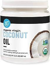 Amazon Brand - Happy Belly Organic Virgin Coconut Oil, 30 Fl Oz