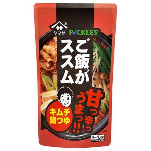 ヤマサ醤油 ご飯がススム キムチ鍋つゆ 750gパウチ×12袋入×(2ケース)