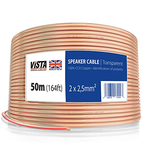 12AWG Speaker Cable 50m Flat Cable For Hifi Speakers AV receivers and Car...