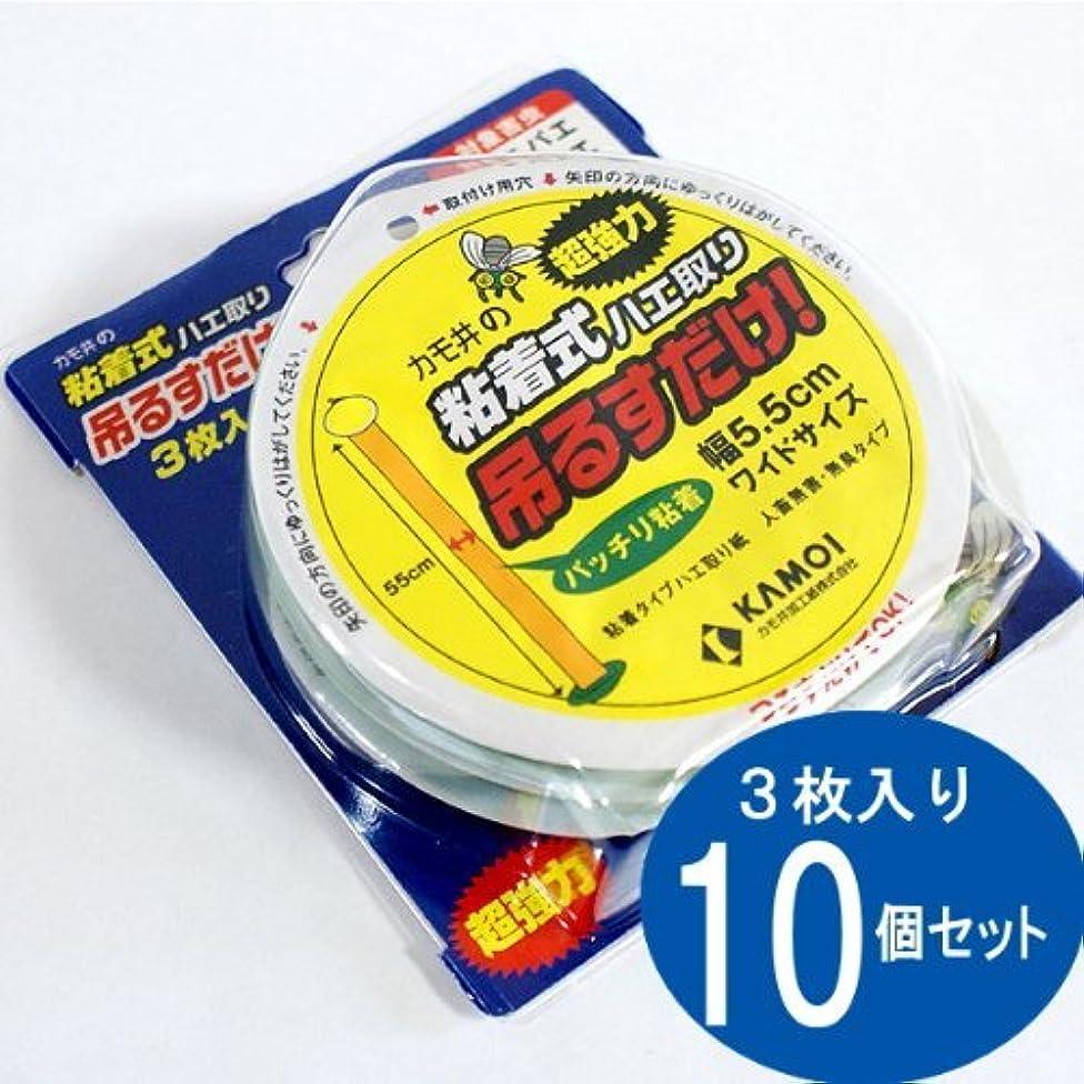 属する底袋カモ井の粘着式ハエ取り 吊るすだけ 1箱(3枚入×10個)