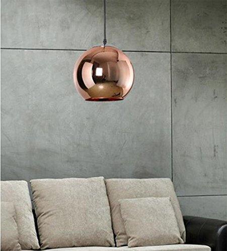 Anzünden Pendelleuchten Ball Dekoration Hänge Lampe Licht Licht Bronze Leuchten schmücken Wohnzimmertisch Living Zimmer Küche Restaurant Kupfer 20cm (keine Glühbirne)
