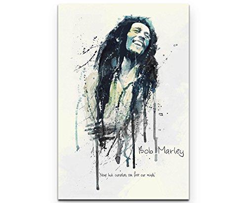 Paul Sinus Art Bob Marley I 90x60cm auf Leinwand gespannt fertig zum aufhängen