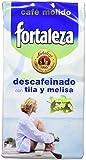 Café Fortaleza Café Molido Descafeinado con Extracto de Tila y Melisa - 250 gr - [Pack de 4]