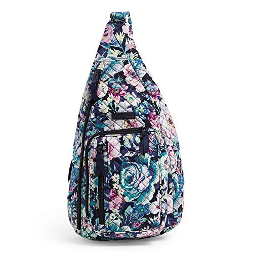 Vera Bradley Women's Signature Cotton Sling Backpack, Garden Grove, Medium