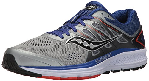 Saucony Women's Omni 16 Running Shoe, Grey Navy, 11