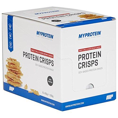 Myprotein Integratore Protein Crisps Sweet Chilli & Sour Cream - 6 x 25 g