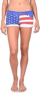 Tipsy Elves Women's USA American Flag Denim Shorts - Patriotic Stars and Stripes Jean Shorts