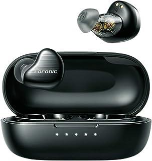 FORONIC Audifonos Inalambricos Bluetooth con Micrófonos HD, Audífonos Wireless Bluetooth 5.1 con Conductor Dinámico Dual/C...