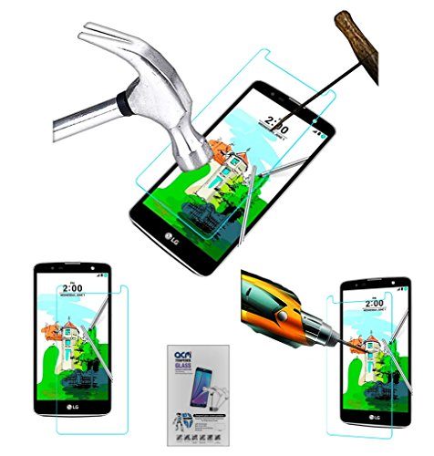 Acm Tempered Glass Screenguard Compatible with Lg K535d Stylus 2 Plus Screen Guard Scratch Protector