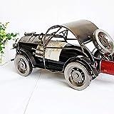 Zpong Schmiedeeisen Classic Car Metall Weinflaschenregal 33 * 13 * 14Cm, Europäische Vintage Weinregal Dekoration