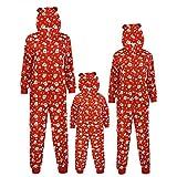 VESNIBA Christmas Family - Conjunto de pijamas largos, para hombre, mujer y niños, diseño navideño #A2/rojo M