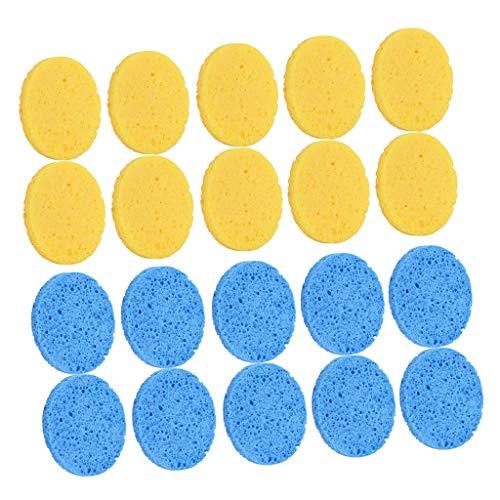 Amagogo Éponges Nettoyantes pour Le Visage En Cellulose Compressée 20pcs Démaquillants Réutilisables