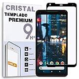 REY Protector de Pantalla Curvo para Google Pixel 2 XL, Negro, Cristal Vidrio Templado Premium, 3D / 4D / 5D