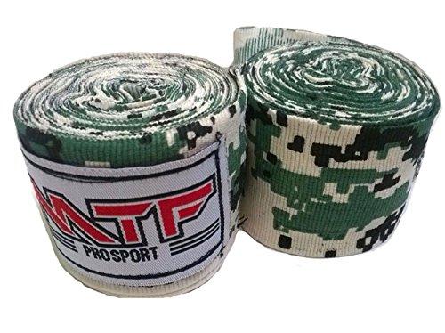 MTF Handbandagen Muay Thai Boxen MMA K1 Fitness Gear Farbe Armee Camo Grün Größe 180 Zoll Handbandagen für Kickboxen Sport