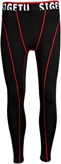 Prettyia Mens Compression Tights Leggings Baselayer Underwear Running Gym Exercise Sports Long Slim Pant