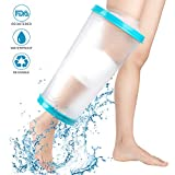 Protector de brazo impermeable para regadera, vendaje de yeso, resistente al agua, para manos rotas, mantiene la mano seca, se adapta a adultos unisex (rodilla: 43 cm)