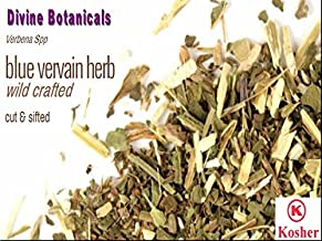 DIVINE BOTANICALS Blue Vervain Herb Wild Crafted Cut & Sifted (16 oz)