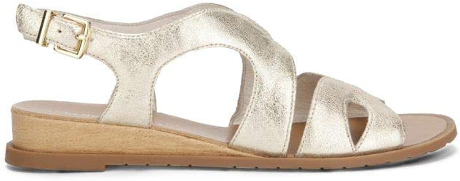Kenneth Cole New York Jules Leather Wedge Sandal
