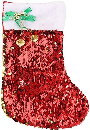 Pailletten Kerstsok Glitter Bling Gouden Kerstsokken Cadeau Traktatiezak Kerstboom Hangende Open Haard Ornamenten voor Feestdecoraties Feestdagen Cadeautjes