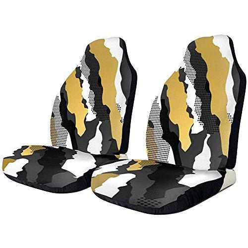 Autositzbezüge Gold Glitter Weiß Schwarz Camouflage Protector Kissen Premium Cover Männer Jungen Passend für die meisten Autos