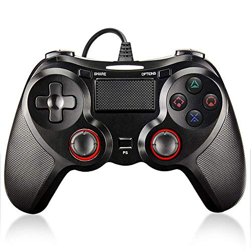 PS4 Controller Wired Controller, Dual Vibration Shock Joystick Gamepad met 1,8 M USB-kabel voor Playstation 3/4/PS4 Slim/ PS4 Pro PC PS4 Controller Wired Controller voor Playstation 4 Dual Vibration