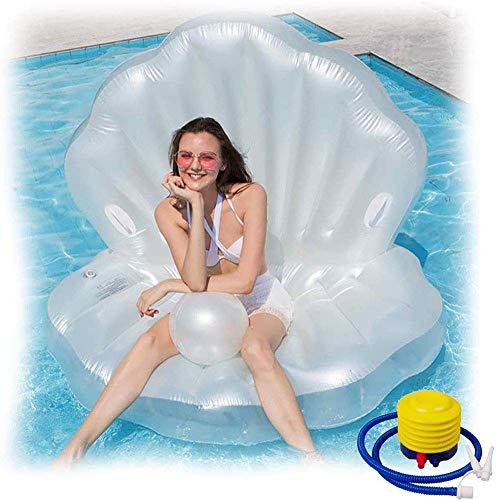 YIQIFEI Concha de Perla Inflable, 160 * 130 * 130 CM Concha de Perla de Cama de Agua de...
