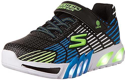 Skechers Jungen Flex-Glow Elite Sneaker, Schwarz_b, 32 EU