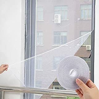 White Anti-Insect Fly Bug Mosquito Window Curtain Net Mesh Screen Protector  (150x130cm)