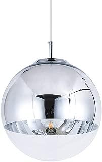 Mzithern Globe Pendant Light, Glass Color Mirror Ball Mini Pendant Light Fixture for Living Room Kitchen Island Hallways Bar Cafe,Polished Chrome Finish,Chrome Silver 6 Inchs