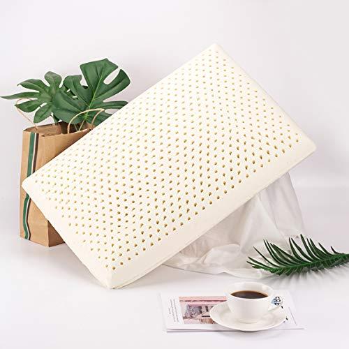 Talatex Natural Latex Pillow,Latex Pillow 100% Organic Cotton Cover Protector