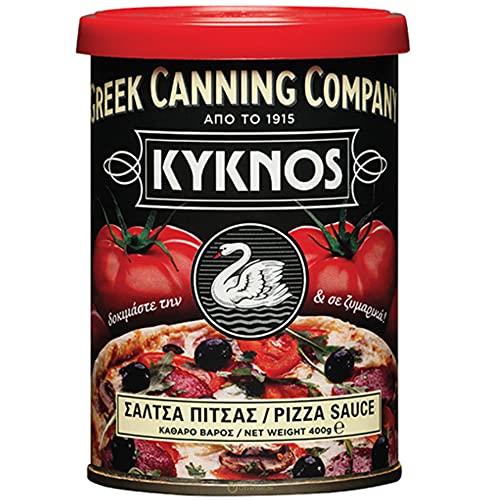 KYKNOS S.A. Greek Canning - Pizza Sauce mit Kräutern & Gewürzen - 400g Dose