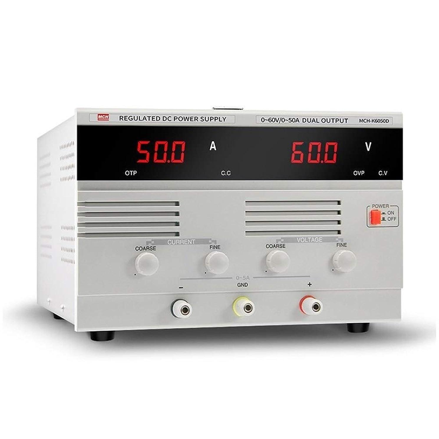 メールを書く日帰り旅行に利得工業用計測器 MCH-K6050D DC電源0-60V 50A DC調整可能定電流めっきハイパワー電源,高い安定性 (Size : 220v)