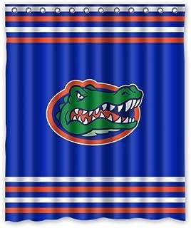 Aloundi Fashion Press Flawless Gorgeous Creative Florida Gators Shower Retro Curtain Shower 100% Waterproof Polyester Fabric Inches Standard