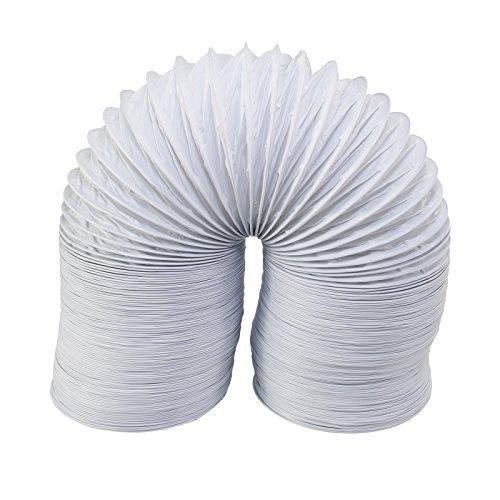 Tubo universal de ventilación Qualtex para secadora de condensación (extra largo, 6 m, 4 pulgadas/10 cm)