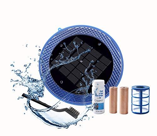 solar pool ionizer blue works