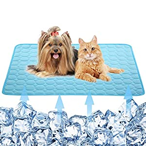 Dog Self Cooling Mat Pet,Breathable Summer Cooling Pads,WashableIce Silk Sleep Mat,Sleeping Kennel Mat Pad Non-Toxic Sleep Bed Mat for Large Dogs Cats Animal