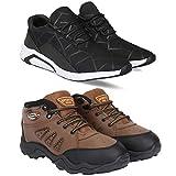 Bersache Men\s Multicolor Running Shoes - 10 UK (44.5 EU) (Combo-1242-397-10)