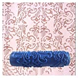 Paint Tools 7 inch Wallpaper Decorative Pattern Roller Embossed Paint Rubber Sleeve Wall Texture Mold Brush 3D Pattern Paint Roller Wall Brush (Color : 043, Product Size : 7 inch)