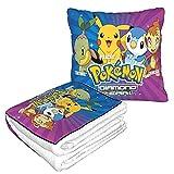 Manta de almohada de Pokémon, mantas de viaje y almohadas de alta calidad, suaves dos en uno, mantas de almohada de coche, mantas de almohada, mantas de sofá