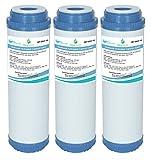 3X GAC-10 AquaHouse - Cartucho de filtro de agua de carbón activado granular GAC para ósmosis inversa, casa entera, agua potable