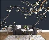 Papel Pintado 3D Ramas De Flor De Magnolia Blanca Fotomurales Decorativos Pared 3D