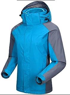 YXP Men's Waterproof Ski Jacket Double Layer Fleece Jacket