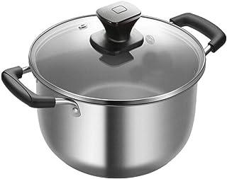 MxZas Stock Pot, de Acero Inoxidable crisol de la Sopa con Tapa, Olla for el hogar Cocina o Restaurante, Apto for lavavajillas Libre de oxidación Jzx-n