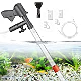 TAOAT Aquarium Gravel Cleaner with Air-Pressing Button Long Nozzle Fish Tank Cleaner for Sand Washing Aquarium Water Changer with Adjustable Water Flow Controller and Algae Scraper