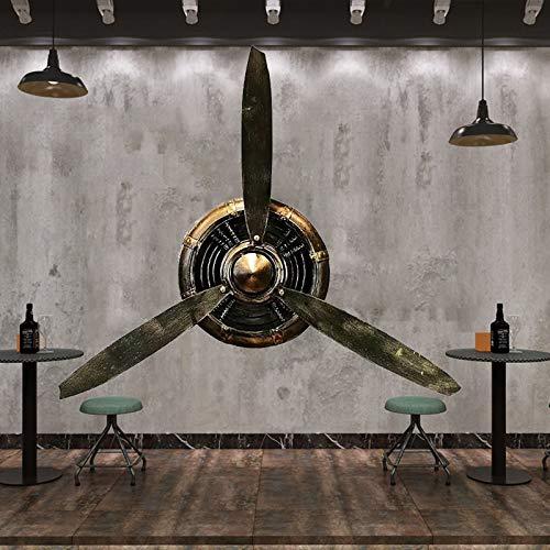 FPigSHS Decoración de Pared de hélice de avión Vintage, esculturas de Pared Retro estéreo 3D Hierro Forjado de Loft, decoración de Pared de Fondo para Bare/Sala de Estar/Dormitorio, L70×H65CM